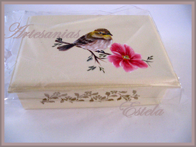 Cajas de madera pintura decorativa