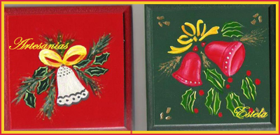 Cajas para bombones decoradas para navidad