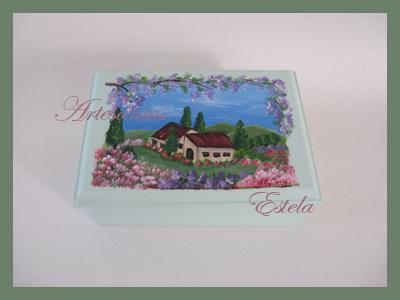Cajas Artesanales Decoradas Para Bombones Pintadas Totalmente A Mano