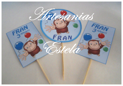 Souvenirs Cumpleaños Infantiles -Toppers - Pinches - Cumpleaños Temáticos Infantiles Personalizados