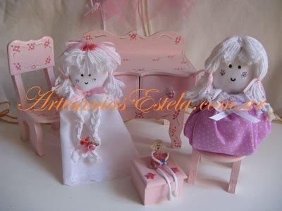 Souvenirs Cumpleaños Infantiles -Muñequitas de Tela Cumpleaños Infantiles