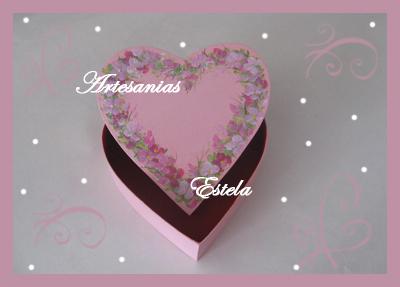 Cajas forma corazón para bombones