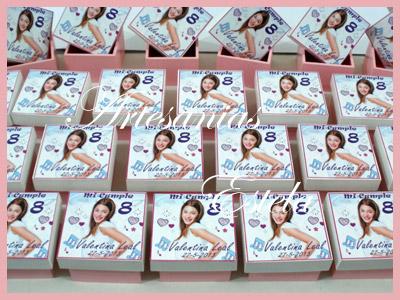 Souvenirs Cajitas Personalizadas Violeta   Souvenirs para Cumpleaños Infantiles