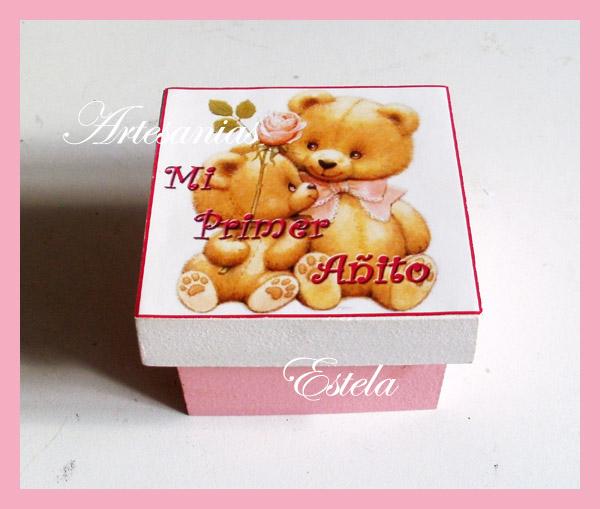 Souvenirs Cajitas Primer Añito   Souvenirs para Cumpleaños Infantiles