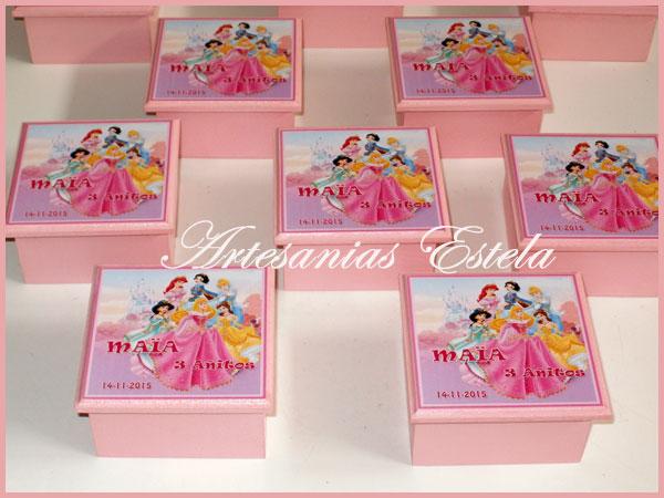 Souvenirs Cajitas Princesas Personalizadas