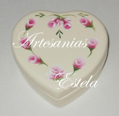 cajitas ceramica corazon 7   Souvenirs De 15 Años