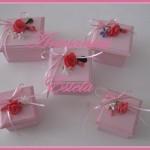 Cajas Artesanales Para Bombones - Flores de Porcelana