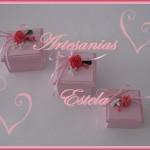 Cajas Artesanales Para Bombones Decoradas Con Flores De Porcelana