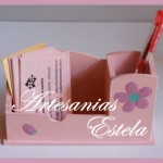 Organizador de Escritorio Porta lapices y tarjetas de Madera Fibrofacil 150x150   Souvenirs Para Cumpleaños Adultos