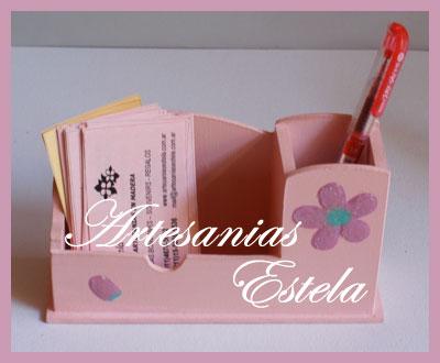 Organizador de Escritorio Porta lapices y tarjetas de Madera Fibrofacil   Souvenirs Para Cumpleaños Adultos
