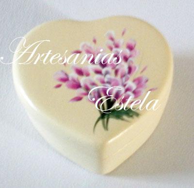 cajitas ceramica corazon 3   Souvenirs Para Cumpleaños Adultos