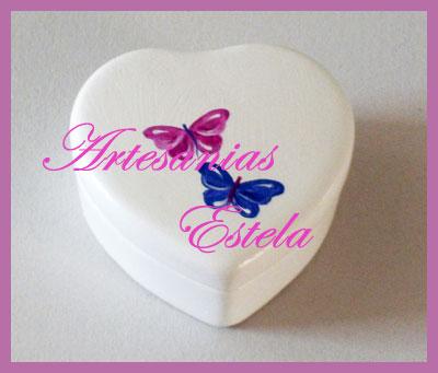 Souvenirs Para 15 Años - Cajas de Cerámica de Forma Corazón - 2012