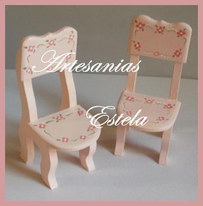 Muebles Para Casitas De Muñecas Artesanias Estela