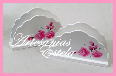Servilleteros De Madera Decorados 1   Souvenirs Para Casamientos   Bodas