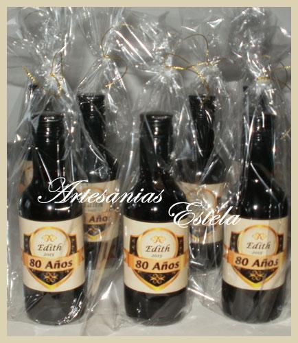 Souvenirs Botellas De Vino Personalizadas   Souvenirs Para Cumpleaños de Adultos   80 Años