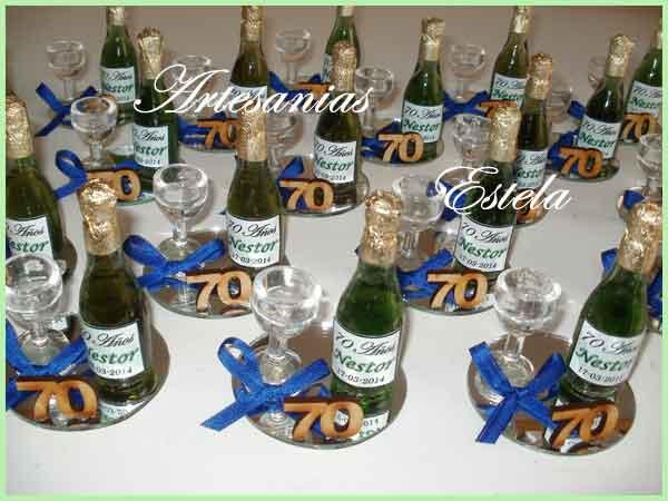 Botellitas De Champagne personalizadas   Souvenirs De Para Cumpleaños De Adultos Con Botellitas Personalizadas