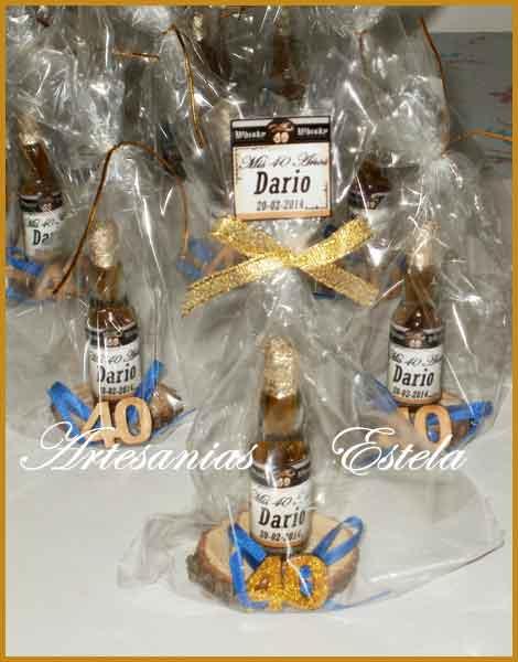 Botellitas Whisky 40 Años   Souvenirs De Para Cumpleaños De Adultos Con Botellitas Personalizadas