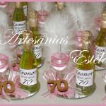 Souvenirs 70 Años 150x150   Souvenirs De Para Cumpleaños De Adultos Con Botellitas Personalizadas