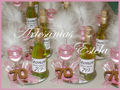 Souvenirs 70 Años   Souvenirs De Para Cumpleaños De Adultos Con Botellitas Personalizadas