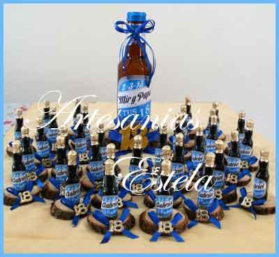 Souvenirs Botellitas De Cerveza Personalizadas   Souvenirs Para Cumpleaños De 18 Años