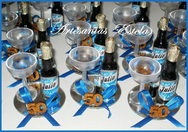 Souvenirs 50 Años - Botellitas De Cerveza Personalizadas