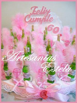 Souvenirs Cumpleaños de Adultos - Botellitas Personalizadas