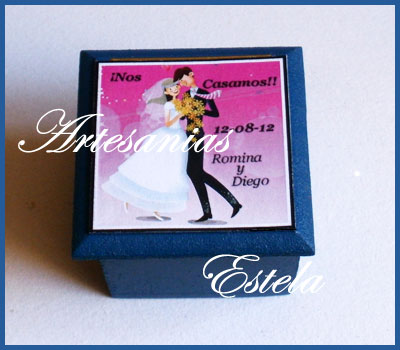 Souvenirs Para Casamientos---Bodas Cajitas Personalizadas