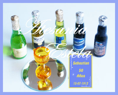 Souvenirs Para Cumpleaños De Adultos-Souvenirs Para-Cumpleaños de 50 Años---Botellitas Personalizadas