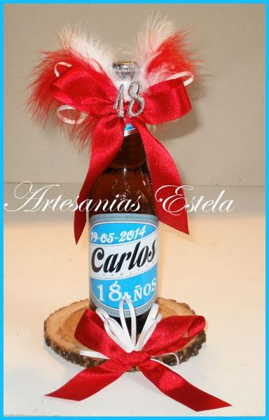 Botellitas Porron De Cerveza Personalizadas   Souvenirs Para Cumpleaños De 18 Años