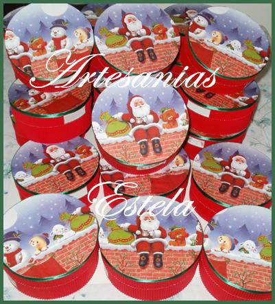 Cajas de cart n para navidad artesanias estela - Cajas de carton de navidad ...