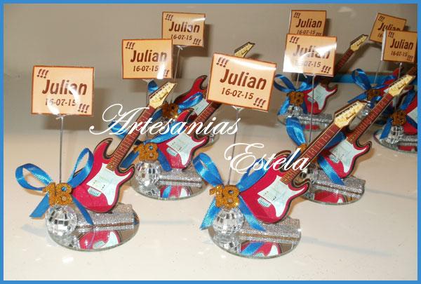 Souvenirs Guitarritas 18 Años   Souvenirs Para Cumpleaños De 18 Años