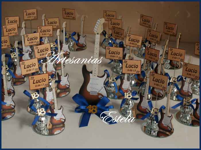 Souvenirs Para 18 Años Guitarrita Electrica   Souvenirs Para Cumpleaños De 18 Años