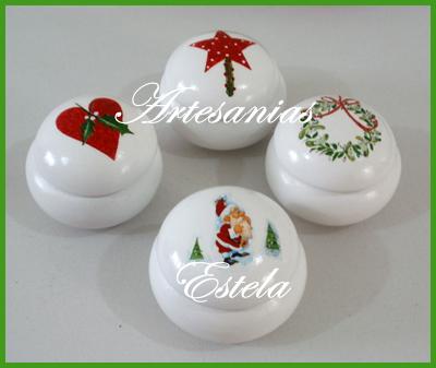 Cajitas con decoraciones Navideñas