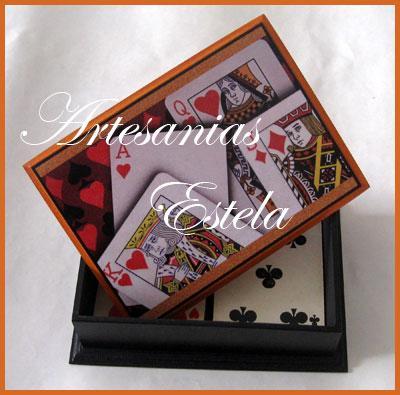 Souvenirs cumpleaños para adultos cajas para naipes - cajas para cartas