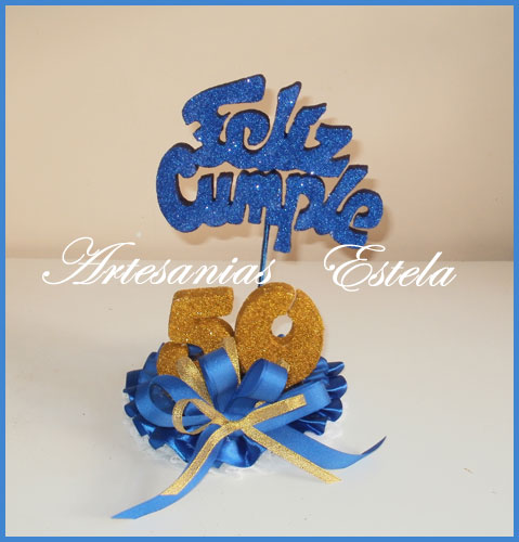 Adornos Para Tortas 50 Años   Souvenirs Y Maquetas Para Cumpleaños De 50 Años