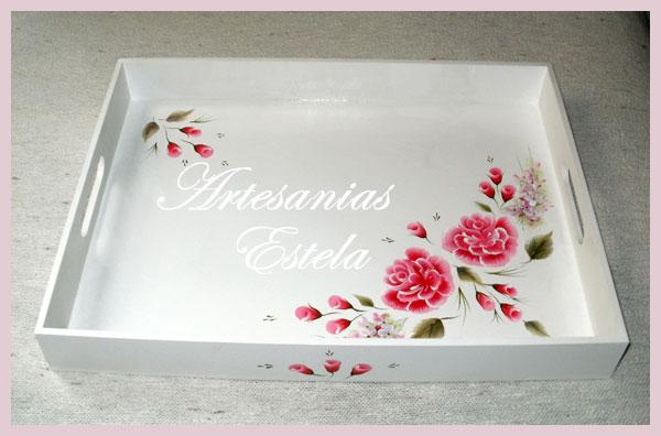 Bandejas De Madera Decoradas Artesanias Estela Souvenirs