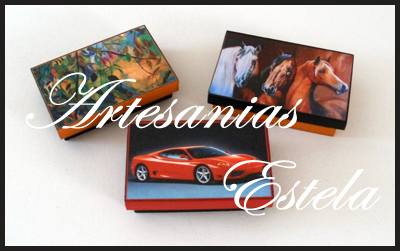 Cajitas de madera fibrofacil decoradas para souvenirs con fotos personalizadas