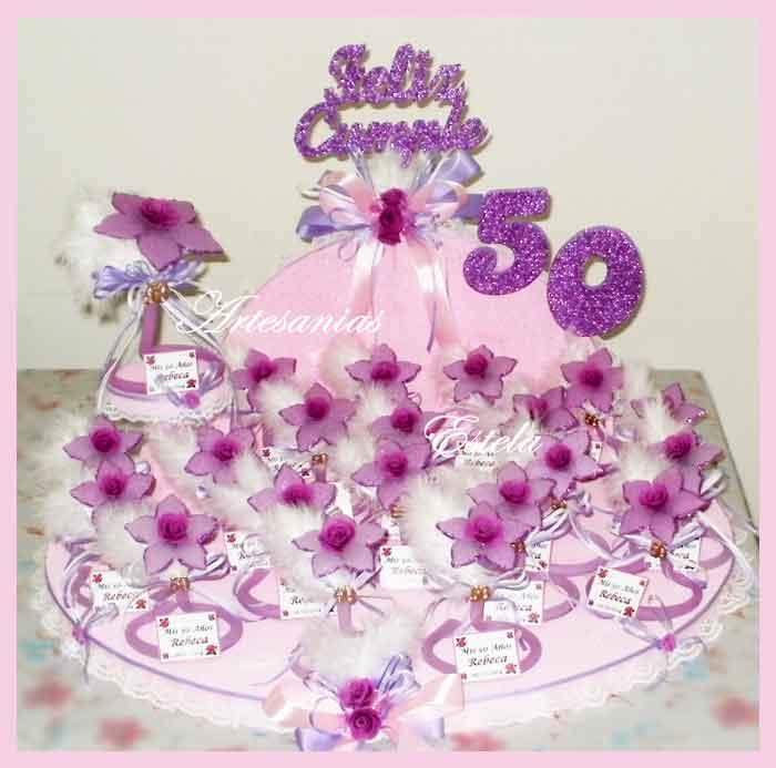 Souvenirs 50 Años Mujer   Souvenirs Y Maquetas Para Cumpleaños De 50 Años