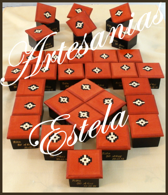 Cajitas de madera fibrofacil decoradas para souvenirs