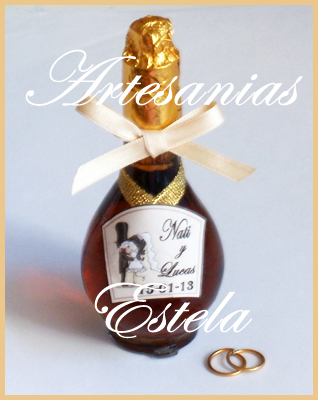 Souvenirs De Casamientos-Bodas-Aniversarios-Con-Botellitas De Licor Personalizadas