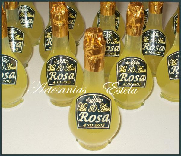 Souvenirs Botellitas De Licor Lemoncello Personalizadas