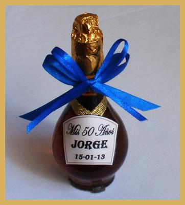 Souvenirs Botellitas De Licor Personalizadas - Souvenirs Cumpleaños - Souvenirs Aniversarios
