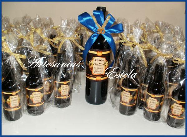 Souvenirs Botellitas De Vino Personalizadas   Souvenirs Para Cumpleaños de Adultos   80 Años