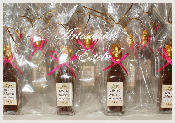 Souvenirs Botellitas Personalizadas De Licor   Souvenirs Para Cumpleaños Adultos