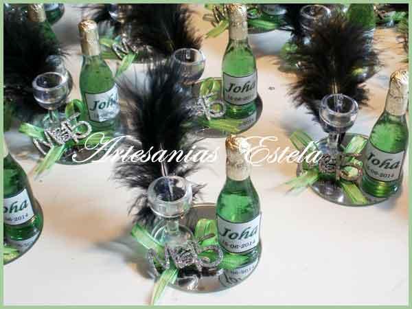 Souvenirs 15 Años - Botellitas De Champagne Personalizadas