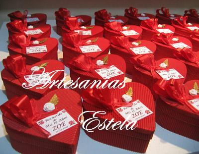 Souvenirs De 15 Años Cajitas Corazon De Carton. 6   Souvenirs De 15 Años