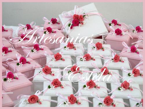 Souvenirs De 15 Años Cajitas Decoradas Con Flores