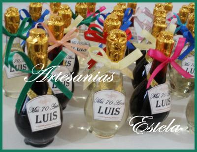 Souvenir Botellitas De Vino Personalizadas