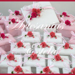 Cajas Decoradas con Flores De Porcelana A 150x150   Souvenirs De Casamientos / Bodas