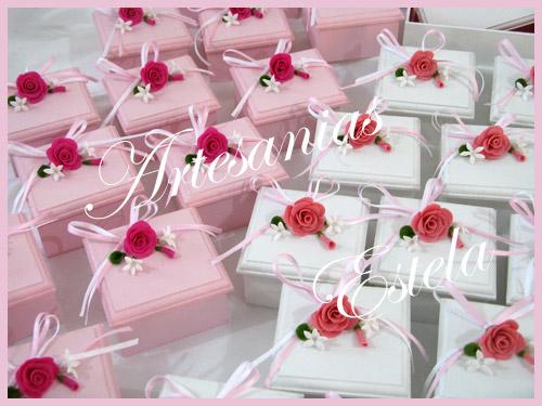 Souvenirs Bodas Cajas con flores   Souvenirs De Casamientos / Bodas